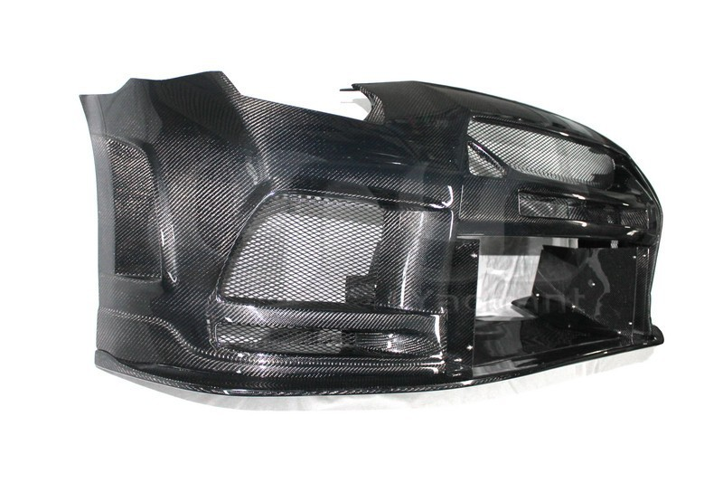 2008-2013 Nissan  R35 GTR CBA DBA TP Style Wide Front Bumper CF (17)