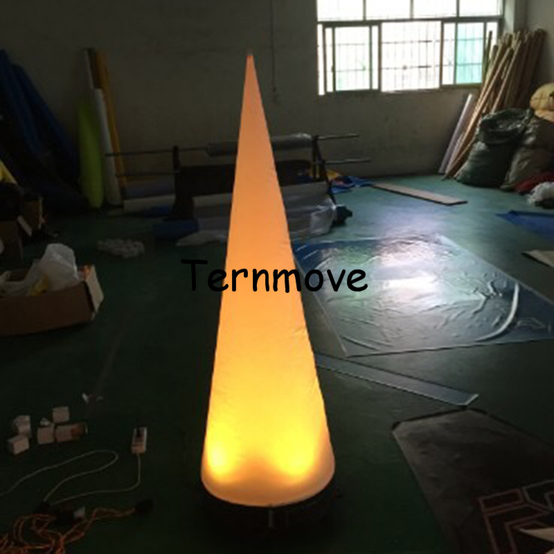 LED Inflatable Crescent Cone Decoration with Blower and Light inflatable traffic taper cone wedding decoration