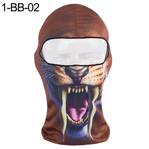 1 Pcs Thin 3d Animal Outdoor Cycling Ski Face Mask Neck Hood Full Face Mask Hat H9 Men's Accessories Men's Masks
