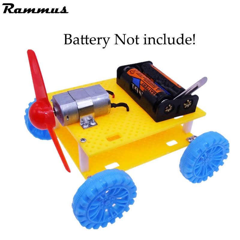 Bricolage éolienne véhicule voiture modèle fait à la main expériences scientifiques éducation jouets pour enfants pour Parent-enfant main travail intéressant