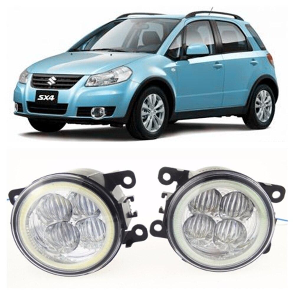 For SUZUKI SX4 GY Hatchback  2006-2014 high brightness LED Angel eyes fog lights Car styling fog lamps for lexus rx gyl1 ggl15 agl10 450h awd 350 awd 2008 2013 car styling led fog lights high brightness fog lamps 1set