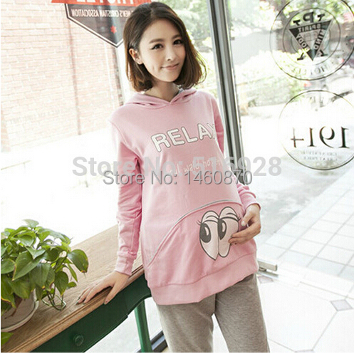 2017 Winter Maternity Hoodies + Pants Suit Fall Sets Sports Clothes For Pregnant Women Sweatshirt Clothing