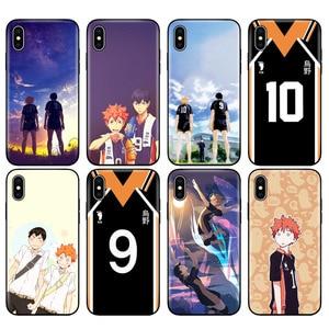 Black tpu case for iphone 5 5s SE 2020 6 6s 7 8 plus x 10 XR XS 11 pro MAX case Haikyuu Hinata Anime Manga Volleyball Uniform(China)