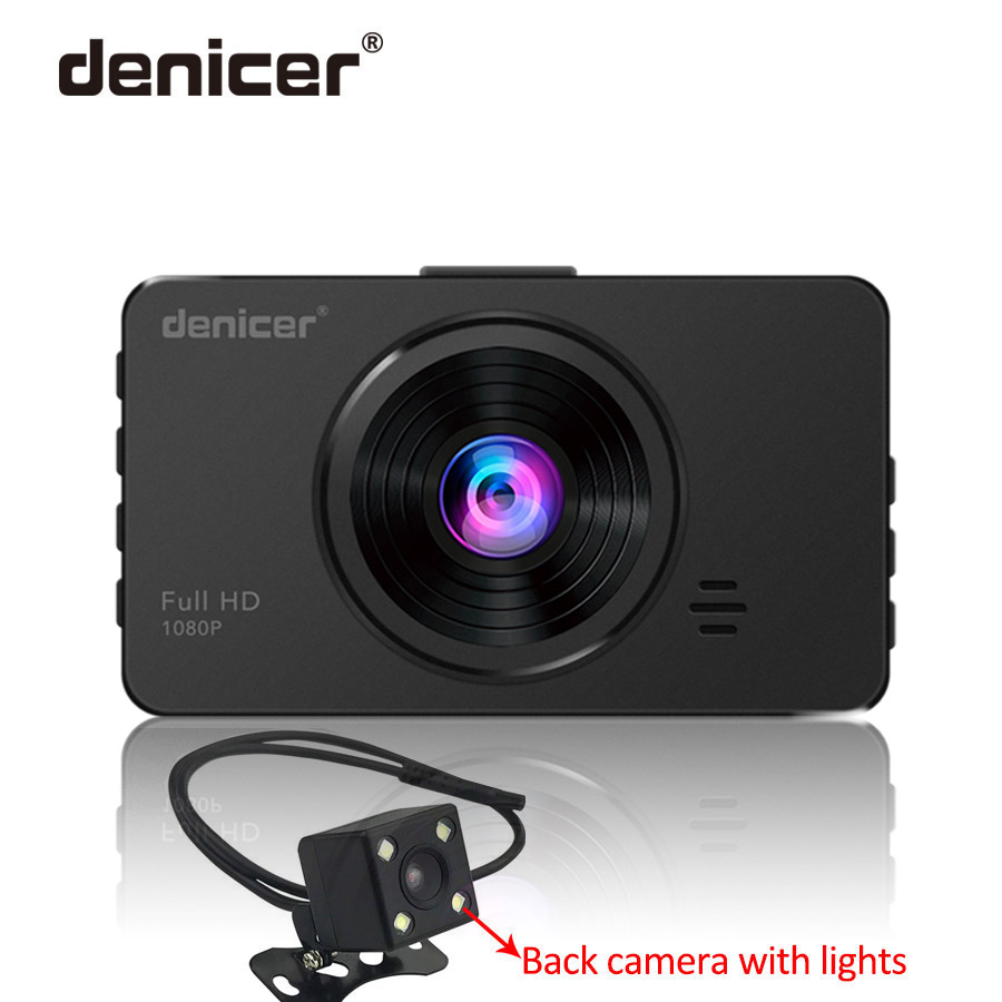 Original <font><b>Car</b></font> <font><b>DVR</b></font> Full HD Dashcam denicer Hot Sale Dash Camera <font><b>with</b></font> Parking Monitor Rear View <font><b>Two</b></font> <font><b>Cameras</b></font> Recorder image