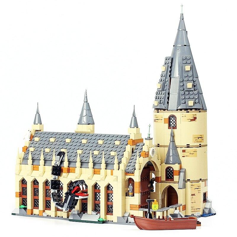 LELE 39144 Harry Potter Serices Hogwarts Großen Halle Kompatibilität 75954 Harry Potter Bausteine Ziegel Spielzeug Für Kinder