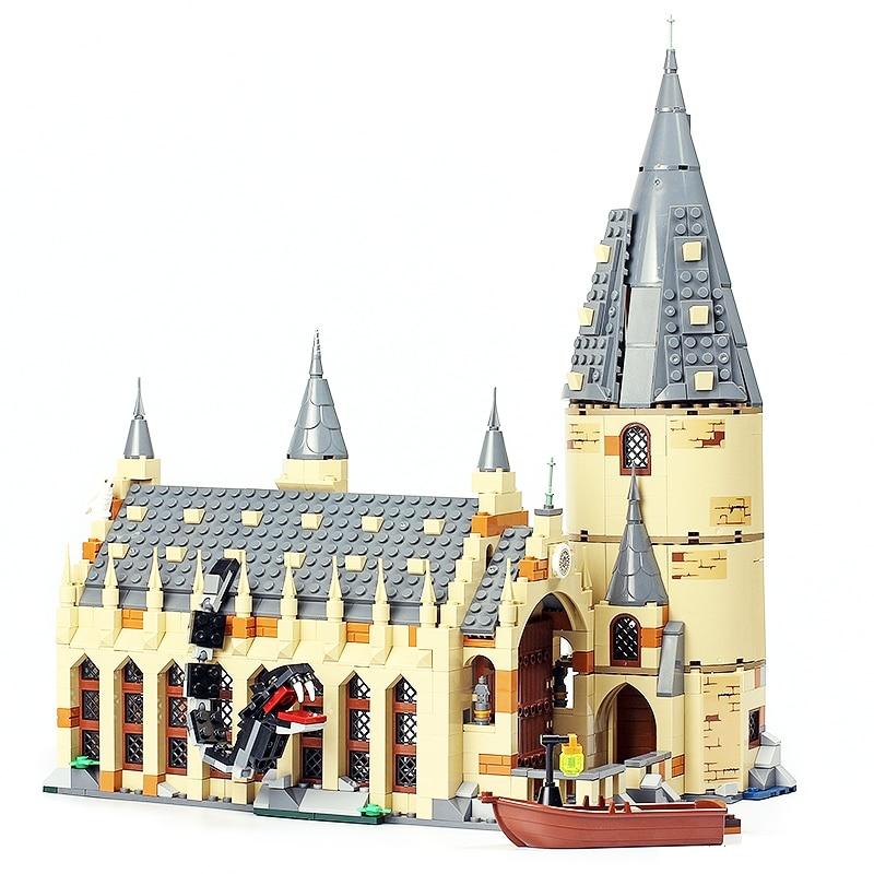 LELE 39144 Harry Potter servicios Hogwarts gran salón compatibilidad 75954 Harry Potter bloques de construcción ladrillos juguetes para los niños