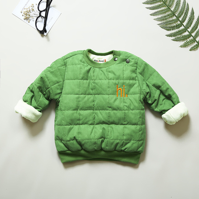 8c02743f child winter clothing for Girls boys toddler pullover 2018 baby sweatshirt warm  outerwear Fleece jacket kids coat tops Clothes