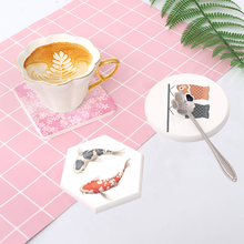 Ins Japanese-style Fish diatomite mud cup  heat insulation and anti-scalding tea mat table