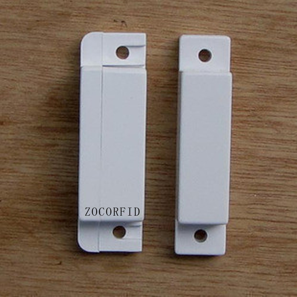 imágenes para Envío gratis 10 unids/lote Blanco Puerta Ventana De Contacto Magnético Interruptor de Lengüeta Sensor (NO o NC modelo)