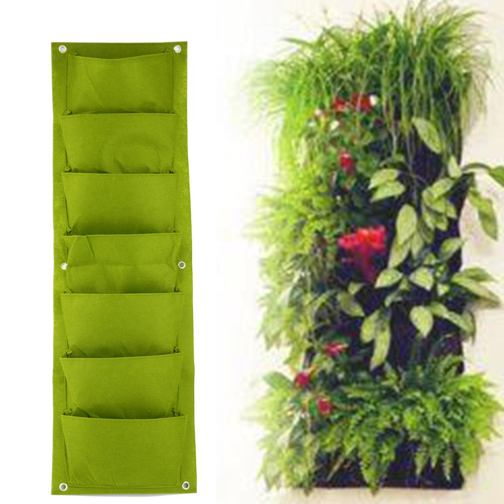 7 Pockets Vertical Garden Planter Wall Mounted Vegetable