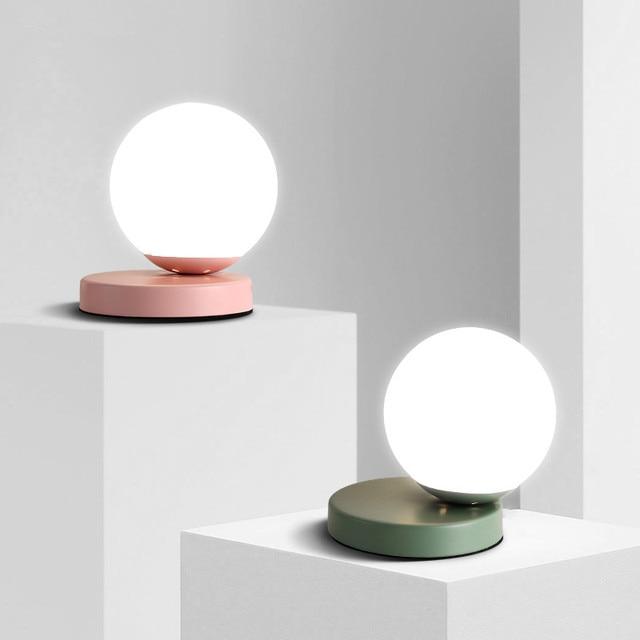 Lampade Da Tavolo moderne Globo di Vetro Desk Lamp Apparecchi di ...