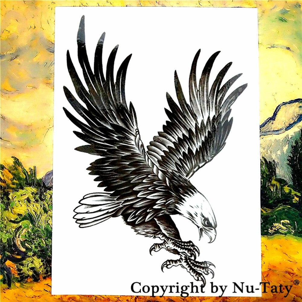Aliexpresscom Comprar Negro águila Tatuaje Temporal Etiqueta Totem