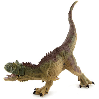 Jurassic Park Dinosaur Model of Children's Toys Gift Ornaments Fu Dragon Model Movable Jaw Posture of Cattle