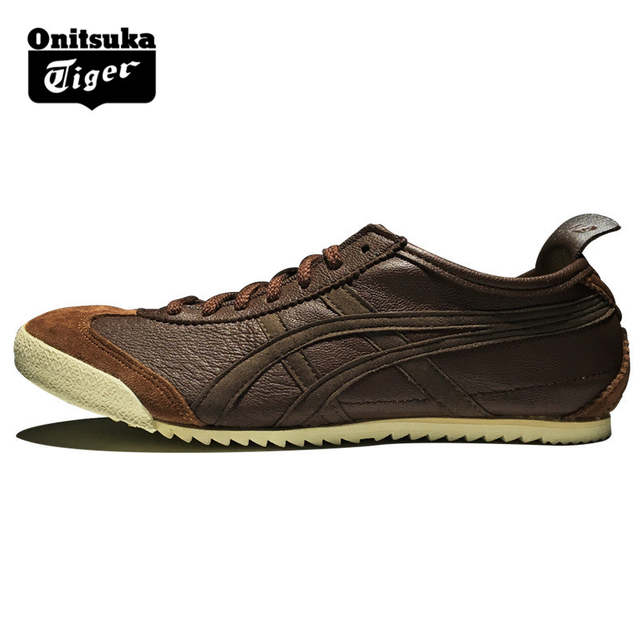 finest selection 42e87 98993 2018 Authentic ONITSUKA TIGER MEXICO 66 Brown Shoes Men Sheepskin Leather  Unisex Low Classic Sneakers Badminton shoes