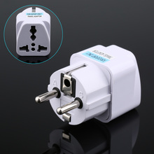 1pc US UK AU To EU Plug USA Euro Europe Travel Wall AC Power Charger Outlet Adapter Converter 2016 JDH99