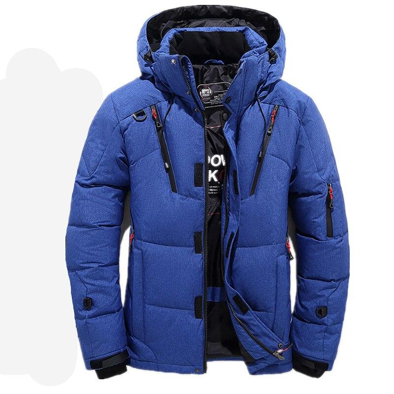 2018 Hohe Qualität 90% Weiße Ente Dicke Daunen Jacke Männer Mantel Schnee Parkas Männlichen Warme Marke Kleidung Winter Unten Jacke Oberbekleidung