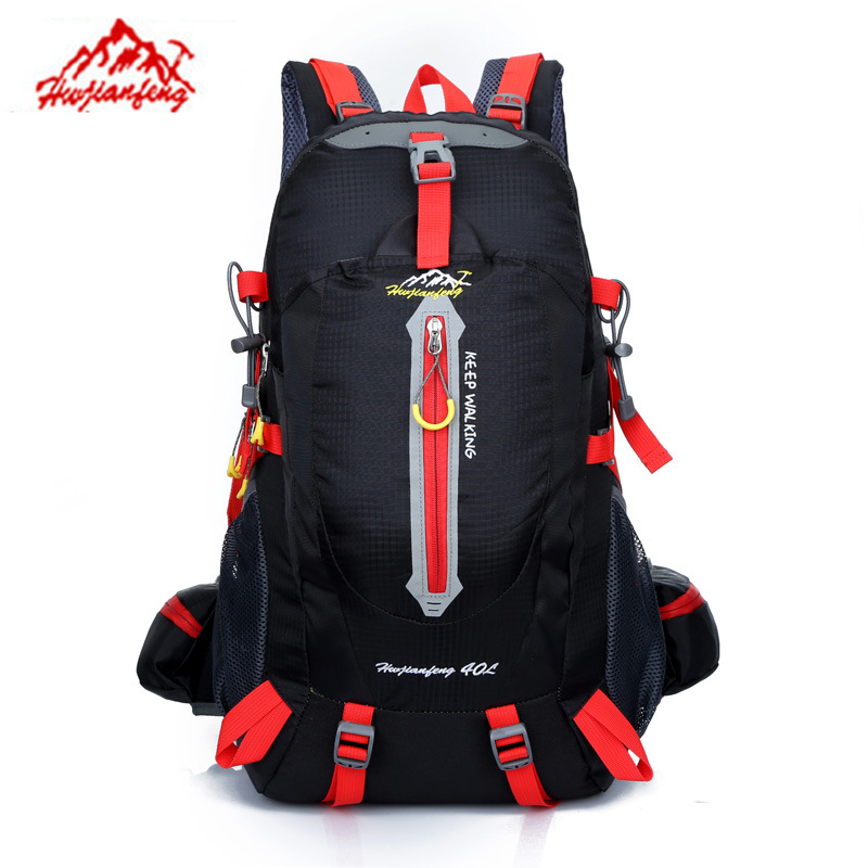 New Fashion Men Women Backpacks Large 40L Waterproof Nylon Casual Fluorescent Color Mochila Travel Bag Leisure Backpacks