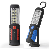 Anjoet Led Work Light Magnetic Emergency Torch Flash Hanging Lamp USB Rechargeable Flashlights Built In 18650