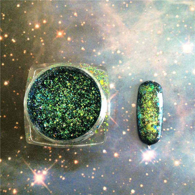 COMBO! 2 tipos verde Chameleon escamas efecto mágico escamas cromo ...