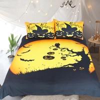 d8f9ed470d 3D Party Bedding Sets King Halloween Duvet Cover Bed Set Skull Print Black  Bedclothes Queen Size