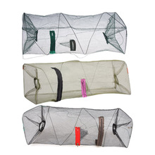 55 x 22cm Folding Shrimp Fising Net Nylon Network Shrimp Cage Fish Net Casting Net Fishing Cage rede de pesca BHU2
