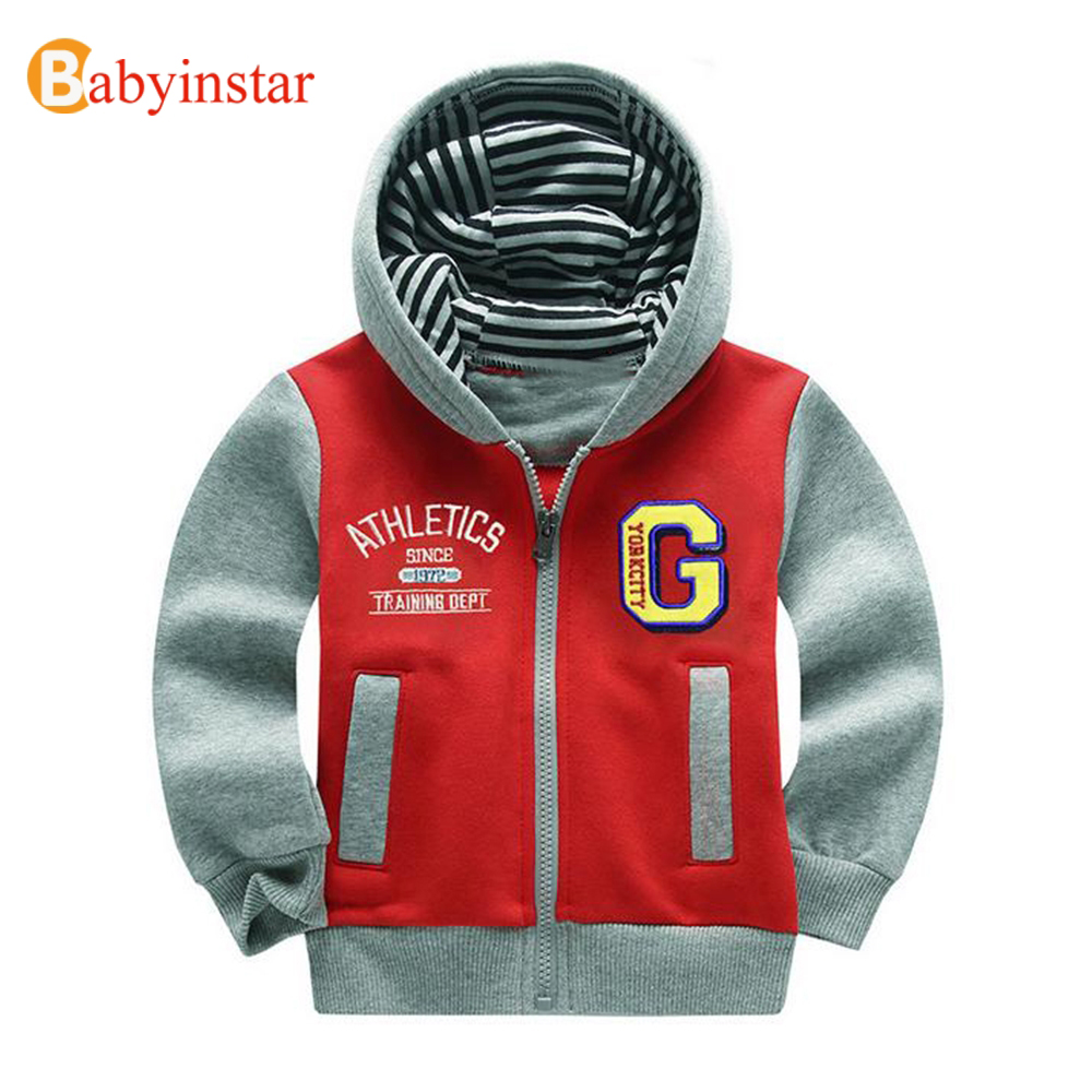 Babyinstar 2017 Hoodie Sports for Boys Cotton Long Sleeve School Children Outerwear Children Hooded Sweatshirts Casual Boy Coat ...