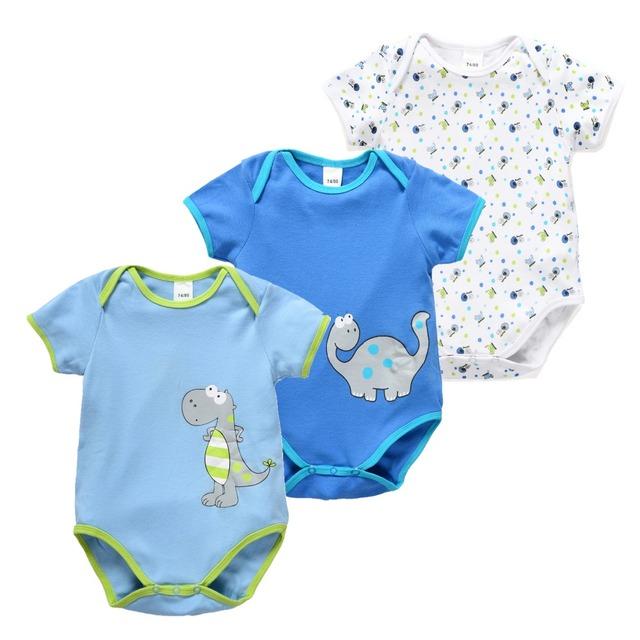 Bebê recém-nascido menina macacão de manga curta pijama para a primavera verão macacão macacões da criança unisex one piece bodysuit menino