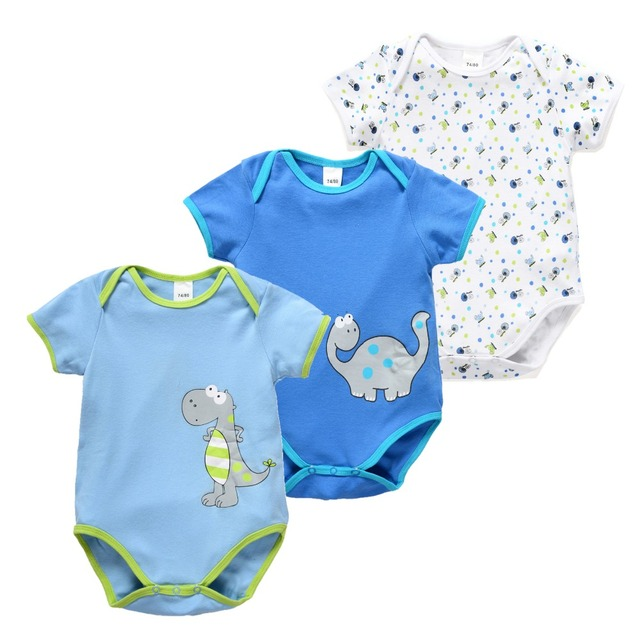 5e7c12344 newborn baby girl rompers short sleeve pajamas for spring summer ...