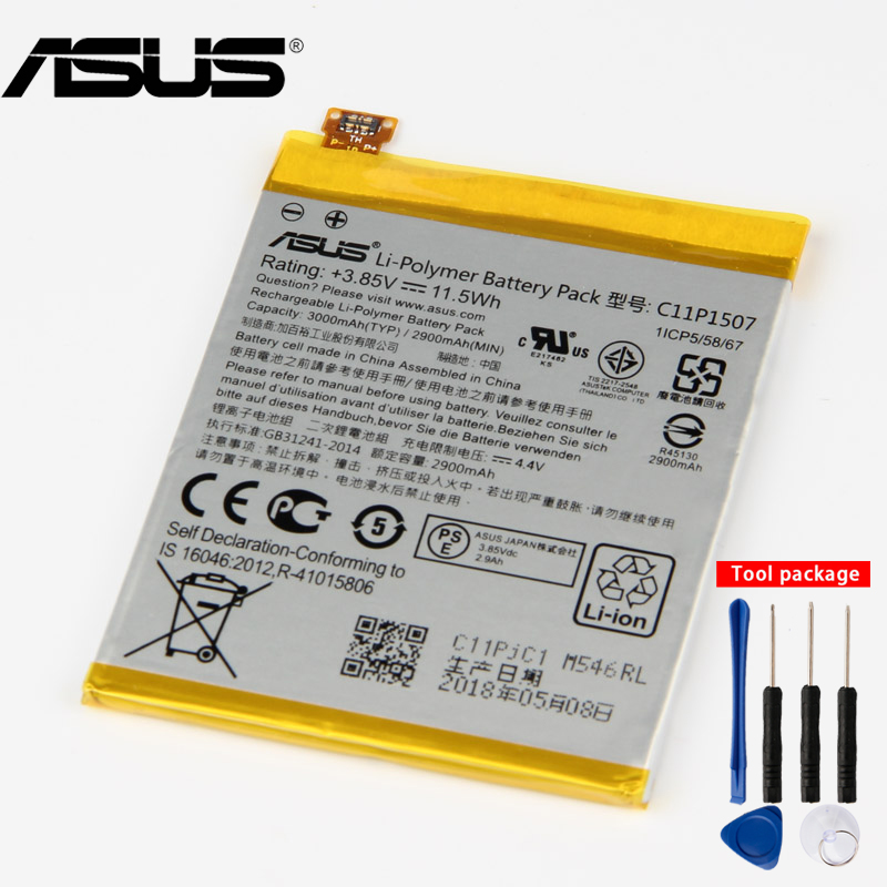 Original ASUS High Capacity C11P1507 Battery For ASUS ZenFone Zoom ZX551 ZX550 ZX551ML Z00XSBOriginal ASUS High Capacity C11P1507 Battery For ASUS ZenFone Zoom ZX551 ZX550 ZX551ML Z00XSB