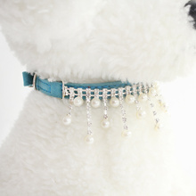 Chain Hanging Beads Pet Dog Collar Princess Collars For Dogs Cat 6041015 Puppy Leash Accessories
