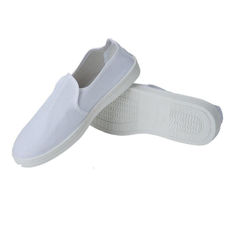 1 Paar Anti-statische Handtuch Schuhe Staub-freies Weiß Leinwand Pvc Handtuch Schuhe Komfortable Low-top Weiche Boden Statische Schuhe