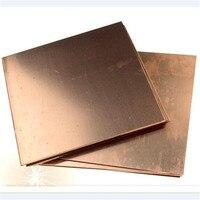 1 stück Neue 99.9% Reinem Kupfer Cu Blech Platte Folie Panel 200*100*5mm Für Industrie versorgung-in Werkzeugteile aus Werkzeug bei