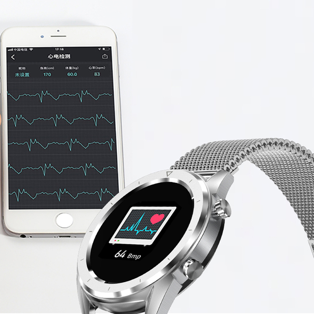 SENBONO DT28 ECG Blood Pressure Monitor Smart Watch Heart Rate Pedometer Sports Bracelet Fitness Tracker Sleep Monitor for band
