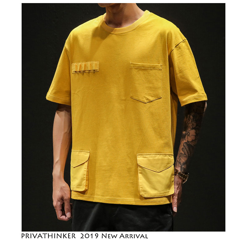 Privathinker Hip Hop Men   T  -  shirts   2019 Harajuku Mens Streetwear Japanese Casual Tshirts Fashions Cotton Male   T     Shirt   Over Size