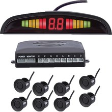 Car front and back LED Parking Sensor Kit 8 Sensor 22MM Backlight Display reverse radar vehicle safety system