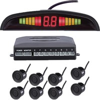 Car Front And Back LED Parking Sensor Kit 8 Sensor 22MM Backlight Display Reverse Radar Vehicle
