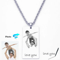 Necklace For Men Handwritten Necklace Key Chain Dog Tag Gift For Him Personalized Necklace Personalized Jewelry