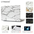 CTRINEWS Marble Texture Matte Cover Case for Macbook Air Pro Retina 11 12 13 15 Laptop Bag Case for Apple MacBook Pro 13'' 2016