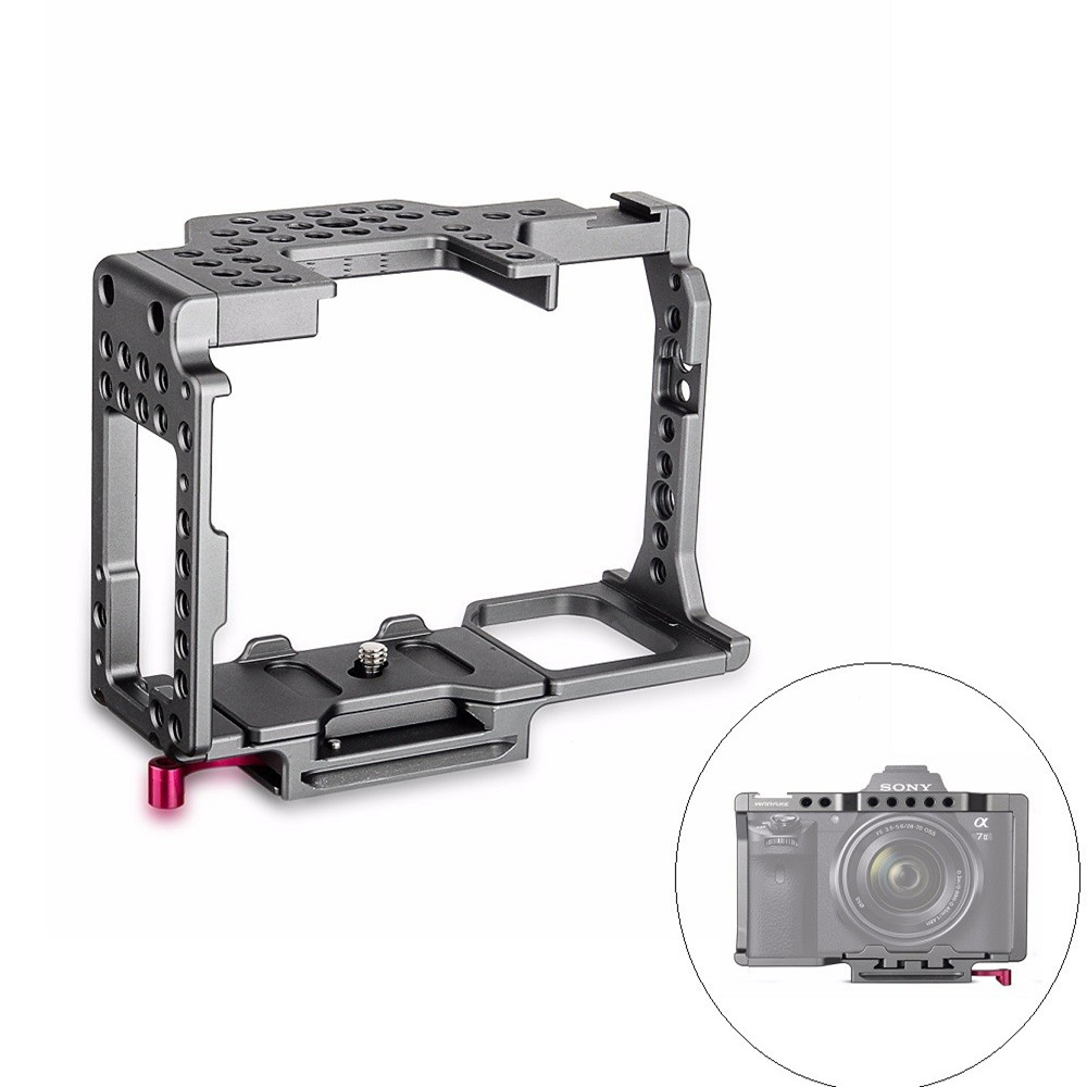 цена на WARAXE A7 Camera Cage Fits Arca Swiss for Sony A7 A7R A7S A7 II A7R II A7S II with 1/4