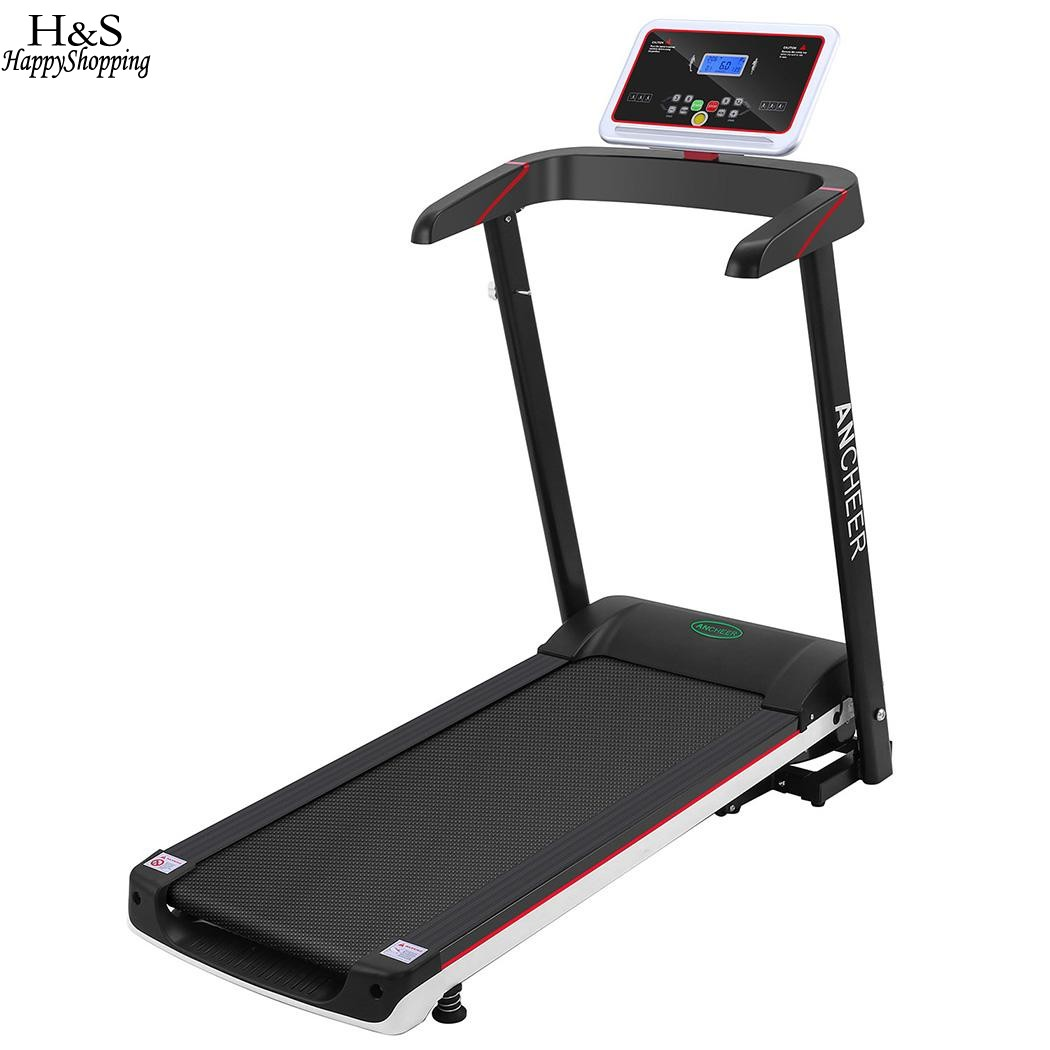 ANCHEER 2.5HP Black Foldable Electric Treadmill Exercise Equipment LCD Screen US Plug Walking Running Machine for Gym Home компьютерная акустика hp lcd speaker bar nq576aa black