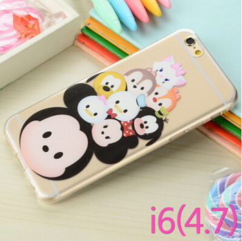 Funny Animals Cartoon Minnie Mickey Characters Case Cover TPU Soft Back Skin Coque Capa Para Iphone6 4.7 - Gigi wong's store