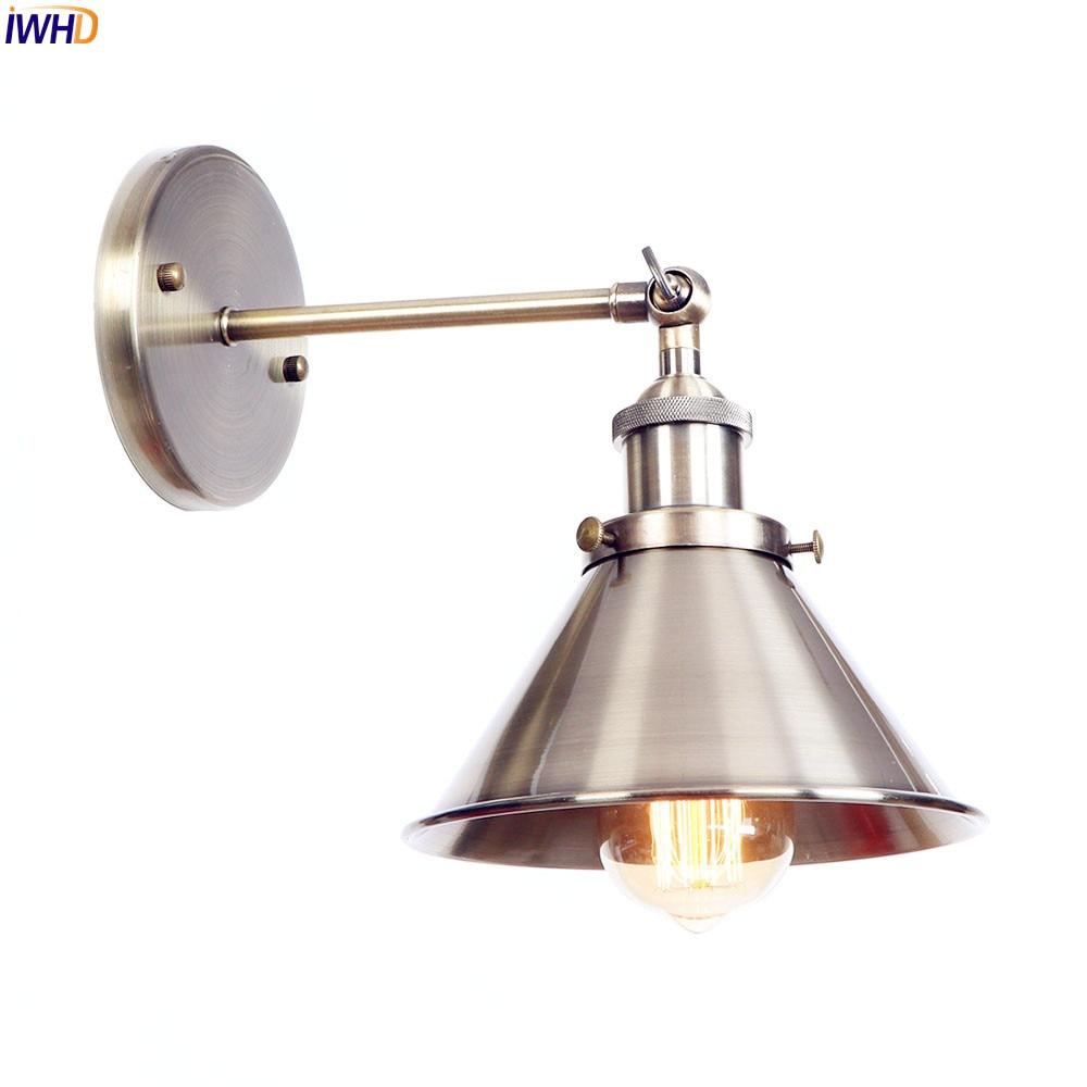 IWHD American Loft Brass Edison Wall Light Vintage ...