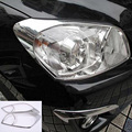 Car Accessories Front Lamp Cover Head Light Cover For Toyota Rav4 Xa40 2006 2007 2008 2009 2010 2011 2012 Abs Chrome 2Pcs
