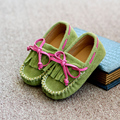 2016 shoes genuine leather bow princess shoes baby girls child Moccasins 1 - 3 children leather shoes