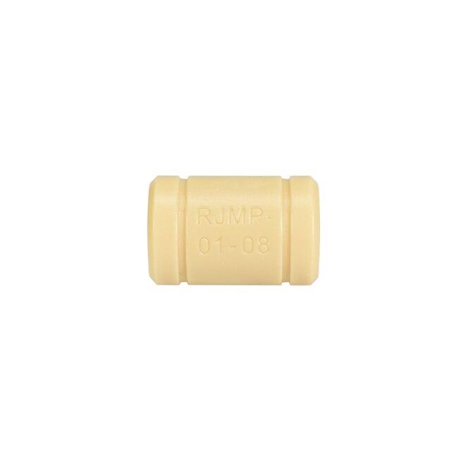 10pc Solid Polymer LM8UU Bearing - 8mm Shaft RJMP-01-08 R Solid Plastic Bearing 8 mm ID For Reprap Prusa 3D Printer part