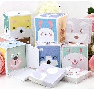 3261 Korea yoofun cute animal magic box pad / note in this paragraph 3pcs/set Memo Pad mixed color