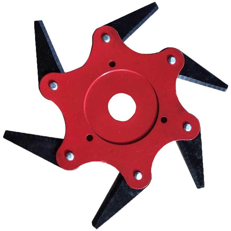 Cabezal de corte de hierba de 6T Power para cortar brochas, piezas de herramientas de reparación de jardines, piezas de cuchillas de corte de cepillo