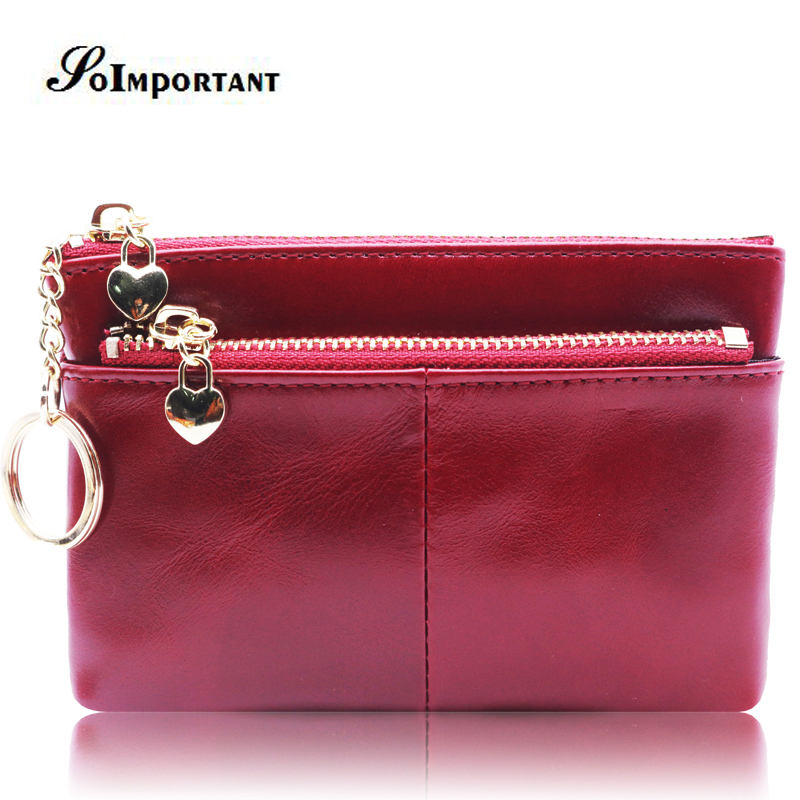 2018 Mini Women Wallets Female Purse Genuine Oil Wax Leather Small Coin Purse Luxury Zipper Lady Walet Card Holder With Key Ring non standard die cut plastic combo cards die cut greeting card one big card with 3 mini key tag card