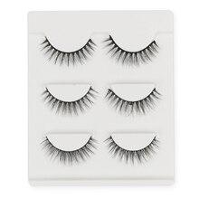 Новые 19 видов стилей 3 пары Черные искусственные норковые 3D глаза Искусственные ресницы натуральный крест длинные толстые женские кисточки для теней 13,5x9,5 см