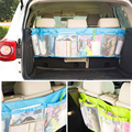Car Back Folding Zakka Bags Folding Luggage Bag Auto Seat Back Storage Mesh Bag Car Trunk Organizer Accessories Mummy Nappy Bag